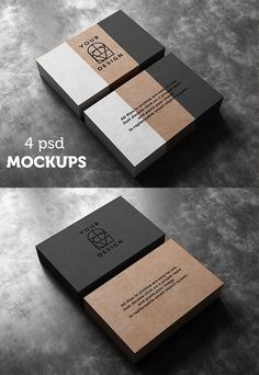 Business card Design logo and identity design Realistic Business Card Mockup Templates
