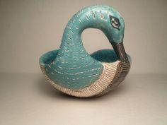 Mid-Century Bitossi Aldo Ceramic Duck Bowl