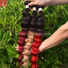 #1b/red,#1b/27,#1b/30,#1b/bug, ombre hair weaves, two tone human hair,shop from www.latesthair.com/ Blond, Ombre Hair Weave, Ombre Human Hair Extensions, Glamour Hair, Latest Hair Trends, Loose Waves Hair, Hair Shades, Loose Hairstyles, Remy Hair
