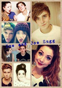Zoella and Thatcher Joe. Joe And Zoe Sugg, Joe Sugg, British Youtubers, Best Youtubers, Ryan Higa, Tyler Oakley, Zoella, Phil Lester, Amazingphil