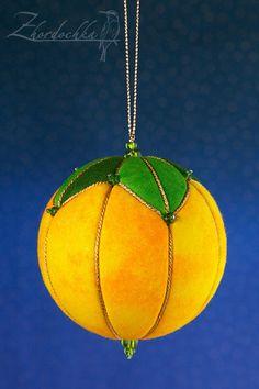 Christmas Ornament Orange Fruit Kimekomi by Zhordochka on Etsy, $13.00