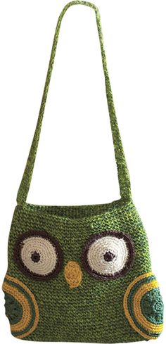 Dot & Bo Wise Owl Crochet Handbag