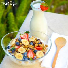 Raw vegan cereal! Fruit fun deliciousness to start your day feeling GREAT! http://youtu.be/SrckWlg5Eas
