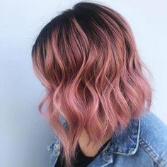 Gold Hair Colors, Hair Color Pink, Hair Dye Colors, Perfect Hair Color, Cool Hair Color, Short Hair Colour, Short Colorful Hair, Hair Color For Kids, Short Pastel Hair