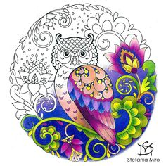 The color palette I have chosen carries me away to a fabulous midnight garden ⭐️⭐️ This fascinating owl helped me relaxing after a bustling day and brought me a lot of joy. You could find this page in the coloring book here : https://www.amazon.com/Lovely-Swirls-Coloring-Book-Adults/dp/1540629112/ref=sr_1_6?s=books&ie=UTF8&qid=1508245938&sr=1-6 . . #prismacolors #prismacolorpencil#colorpencilart #colorpencilartists #coloringbookclub #colortherapyclub#adultcoloring #adultcoloringbooks...