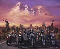"David Mann ""Spirit of Sturgis"" Harley Davidson Kunst, Harley Davidson Motorcycles, Harley Panhead, Motorcycle Art, Bike Art, Motorcycle Memes, Motorcycle Garage, Easy Rider, Art Moto"