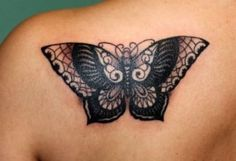 03 Black Butterfly Tattoo Designs