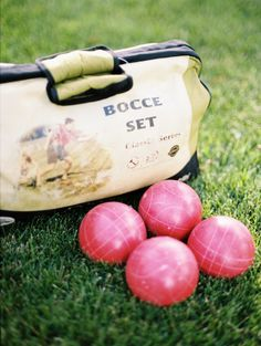 Bocce Ball: http://www.stylemepretty.com/living/2015/05/18/14-outdoor-party-games-for-your-next-spring-bash/