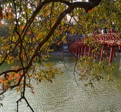 The Huc Bridge, Hoan Kiem Lake, Hanoi