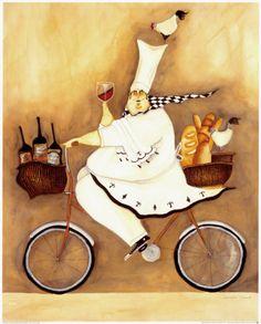 Chef to Go Art Print for sale. Shop your favorite Jennifer Garant Chef to Go Art Print without breaking your banks. Canvas Art, Canvas Prints, Art Prints, Creation Photo, Le Chef, Oui Oui, Kitchen Art, Kitchen Stuff, Room Kitchen