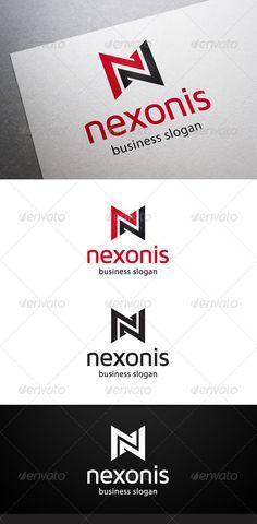 Nexonis N Letter - Logo Design Template Vector #logotype Download it here: http://graphicriver.net/item/nexonis-n-letter-logo/5434644?s_rank=1146?ref=nexion