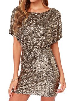 Gold Sequins Dress on Behance