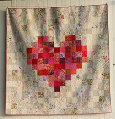 "A Big Heart - Blue Elephant Stitches this one is 5"" squares, but I can also ""see"" it with much smaller squares"