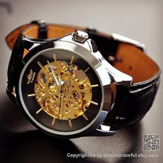 Steampunk Watch Men Black
