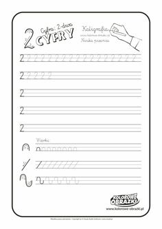 Calligraphy for kids - Digits / Handwriting - Cool Coloring Pages Cursive Handwriting, Handwriting Practice, Calligraphy For Kids, Pencil Grip, Cool Coloring Pages, Learning To Write, 3 D, Activities For Kids, Education