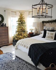 Seasons of Home - Some Christmas Touches in Our Master Bedroom - Dear Lillie Studio Dream Bedroom, Home Bedroom, Master Bedroom, Bedroom Decor, Bedroom Ideas, Bedroom Designs, Bedroom Furniture, Bedroom Country, Queen Bedroom