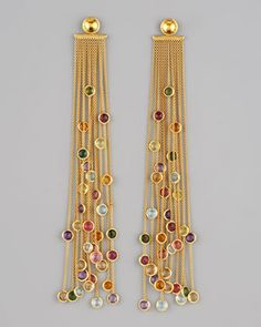 Jaipur Multicolor Fringe Earrings by Marco Bicego at Neiman Marcus.