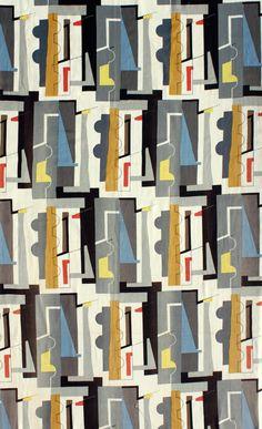 John Piper, abstract, 1950s, mid-century, mid-century design, mid-century textiles, modernism, mid-century fabrics,