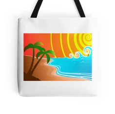 """""""At The Beach"""" Tote Bags by HaroldRamp 