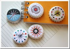 Cute magnets. Tutorial and free download from www.howaboutorange@blogspot.com