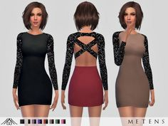 The Sims Resource: Azeilah Dress by Metens • Sims 4 Downloads