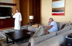 Tania & Trevor on the 50th floor @ Marina Bay Sands Hotel Singapore
