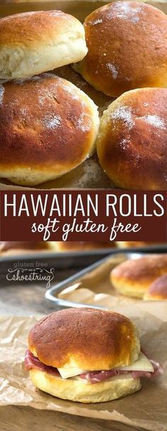 Gluten Free Hawaiian Rolls Recipe from Bakes Bread - with shaping videos! These super soft gluten free Hawaiian rolls are my favorite go-to rolls. Come see the recipe plus shaping videos for the perfect roll! Gluten Free Treats, Gluten Free Desserts, Gluten Free Homemade Bread, Gluten Free Bread Rolls Recipe, Kosher Desserts, Gluten Free Hamburger Buns, Gluten Free Dinner Rolls, Gluten Free Buns, Homemade Recipe