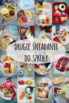 drugie_sniadanie_do_szkoly Fast Healthy Meals, Healthy Recipes, Good Food, Yummy Food, Czech Recipes, Polish Recipes, Cooking With Kids, Health Diet, Diy Food