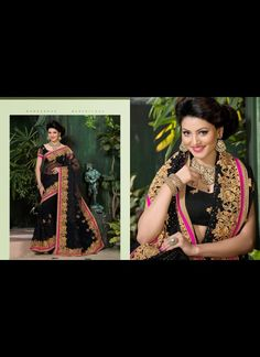 Exquisite Black Embroidered Saree