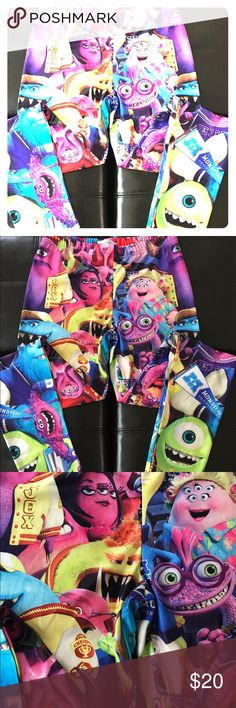🌺B3G1🌺Super fun Monsters University leggings New Super fun Monsters University's leggings! Adorable for anytime and very colorful! Never Worn!! Pants Leggings