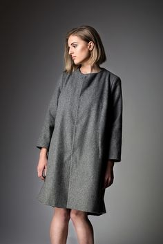 Coat/Płaszcz SCATOLA SS'17 collection BARBARIS Ss 17, Normcore, High Neck Dress, Coat, Collection, Dresses, Women, Style, Fashion