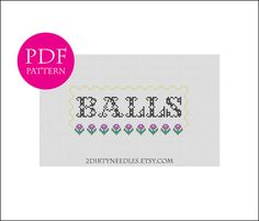 BALLS  Counted cross stitch PDF PATTERN by 2DirtyNeedles on Etsy