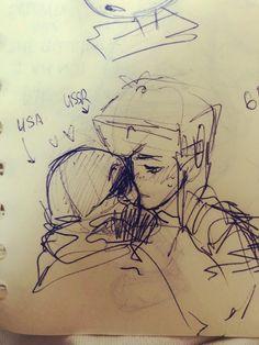 Love Drawings, Art Drawings, Auras, History Memes, Hetalia, Country Art, Cute Gay, Art Inspo