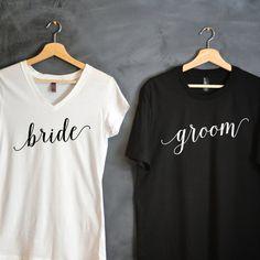 Braut & Bräutigam T-shirt Paket, Braut Shirt, Bräutigam Shirt, Hemden Hochzeit, Hochzeitsgeschenk, Braut t-Shirts, Hemden, Hubby, Wifey Flitterwochen