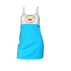 Adventure Time: Women's Finn Sleep Tank | CartoonNetworkShop.com