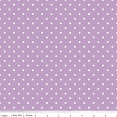 Riley Blake Designs - Dots - Swiss Dots in Lavender