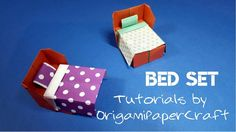Origami: Bed Set: Pillow, Blanket... 🛏️ Tutorials by OrigamiPaperCraft