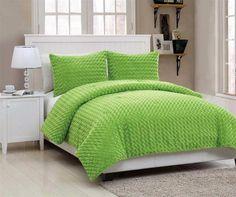 lime green teen bedding