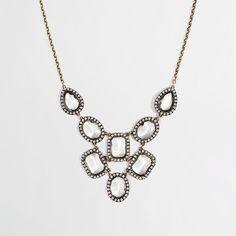 Factory cascading crystal bib necklace Necklaces ($60) via Polyvore