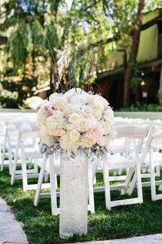 Beautiful ceremony decoration. Marianne Wilson Photography