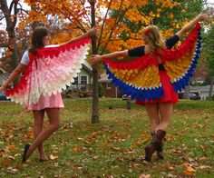 For Halloween a few years ago I made a flamingo costume for myself and a parrot costume for my best friend. With Halloween just around the corner once more, here is a tutorial to get the bird costume inspiration flying!
