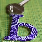 Make a Zentangle Shrinky Dink Keychain~ Idea! This would make awesome gift tags, luggage tags and personalized ornaments.