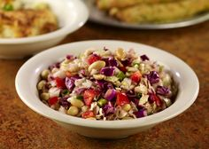 STONEFIRE Nutty Coleslaw. Cabbage, red bell peppers, peanuts, green onion, red wine vinaigrette.