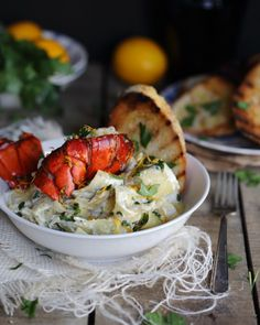 Lemon Lobster Pappardelle in Creamy Goat Cheese Sauce! #recipe # ...