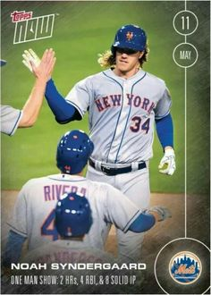 Syndergaard: the One Man Show. Two homers; four RBIs; eight innings pitched. (Front) #Thor #ToppsNow
