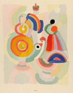 "Sonia Delaunay, 1925, from ""Sonia Delaunay: ses peintures, ses objects, ses tissus simultanés, ses modes...,"" Paris."