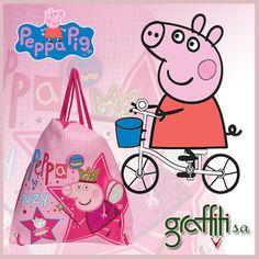 Σάκκος πλάτης από τη Graffiti! Περισσότερες τσάντες Peppa Pig θα βρείτε εδώ -> http://graffiti.gr/page/products_by_sub_cat/44/3/peppa-pig/6#!prettyPhoto #graffiti #graffitisa #peppapig