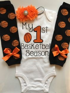 Baby Girl Basketball Outfit  My 1st Basketball by AboutASprout