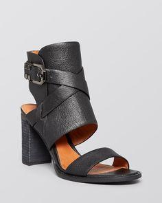 8dc91db3149098 Kenneth Cole Open Toe Ankle Cuff Sandals - La Salle Block Heel