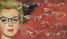 cat-eye frames...a hit in the 1950s